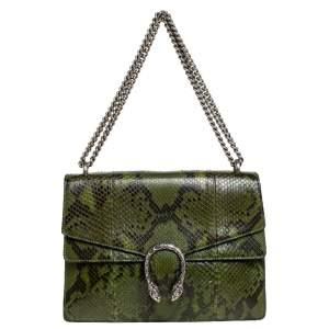 Gucci Green Python Medium Dionysus Shoulder Bag