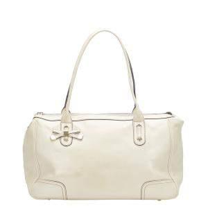Gucci White Leather Princy Shoulder Bag