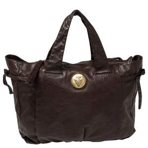 Gucci Dark Brown Guccissima Leather Large Hysteria Tote