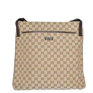 Gucci Beige/Ebony GG Canvas Messenger Bag