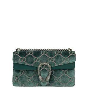 Gucci Green Velvet Dionysus Shoulder Bag