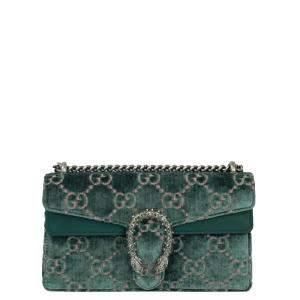 Gucci Green Velvet Dionysus Shoulder Bag