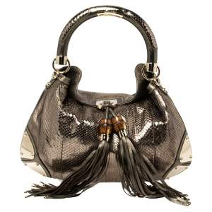 Gucci Metallic Python Medium Babouska Indy Hobo