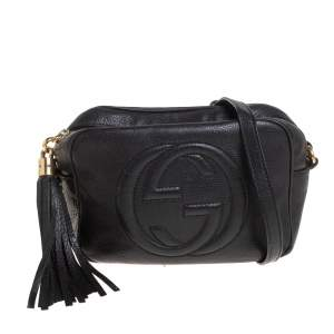 Gucci Black Leather Soho Disco Crossbody Bag