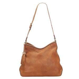 Gucci Brown Leather Marrakech Shoulder Bag