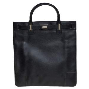 Gucci Black Leather Vintage Tote