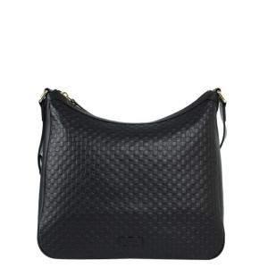 Gucci Black Microguccissima Leather Shoulder Bag