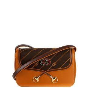Gucci Brown Leather Vintage Rajah Shoulder Bag