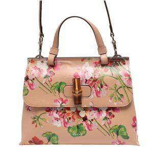 Gucci Multicolor Blooms Bamboo Daily Top Handle Bag