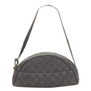 Gucci Black GG Denim Shoulder Bag
