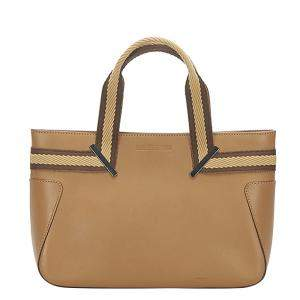 Gucci Brown Leather Web Tote Bag