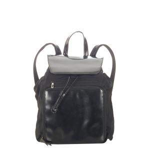 Gucci Black Leather And Canvas Backpack