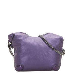 Gucci Purple Leather Galaxy Chain Shoulder Bag