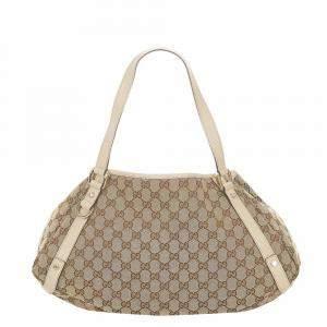 Gucci Brown/Beige GG Canvas Pelham Hobo Bag