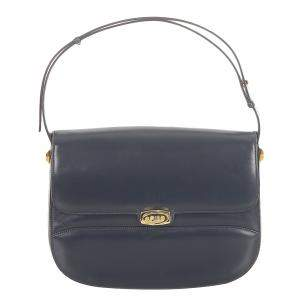 Gucci Blue Leather Shoulder Bag