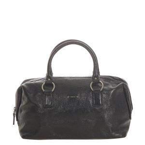 Gucci Black Leather Satchel