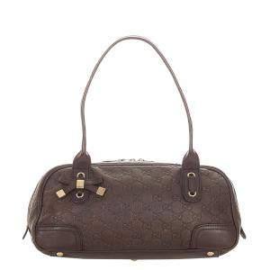Gucci Brown Guccissima Leather Princy Bag