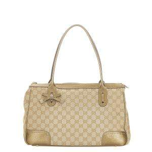 Gucci Beige GG Canvas Princy Bag