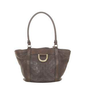 Gucci Brown/Dark Brown Leather Abbey D-Ring SHoulder Bag