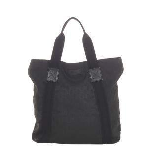 Gucci Black Web Canvas Tote Bag