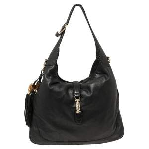 Gucci Black Leather Large New Jackie Hobo