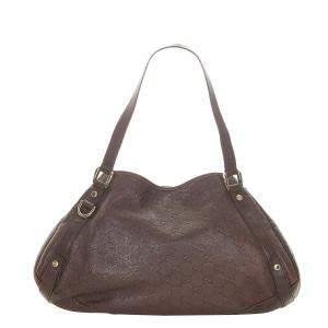 Gucci Brown Leather Pelham Hobo Bag
