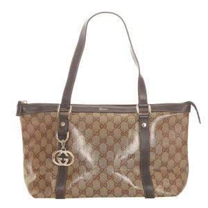 Gucci Brown GG Canvas Abbey Tote Bag
