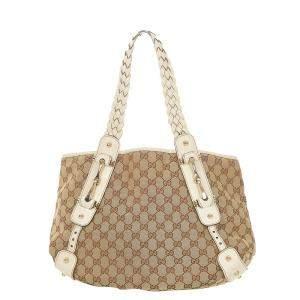 Gucci Brown/Beige GG Canvas Pelham Shoulder Bag