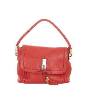Gucci Red Leather Medium Bella Shoulder Bag