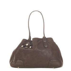 Gucci Brown/Dark Brown GG Canvas Princy Shoulder Bag