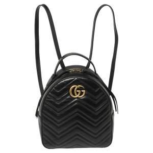حقيبة ظهر غوتشي جي جي مارمونت جلد ماتيلاس أسود