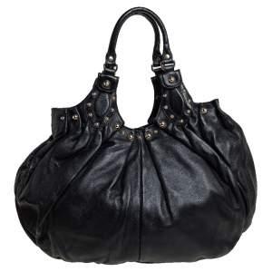 حقيبة هوبو غوتشي بيلهام متوسطة مرصعة جلد أسود