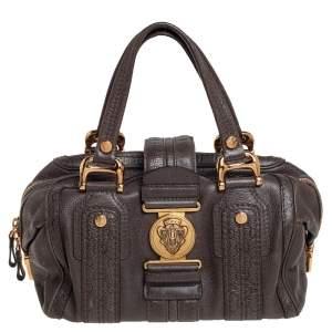 Gucci Grey Guccissima Leather Aviatrix Boston Bag