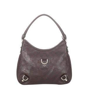 Gucci Brown Guccissima Leather  Abbey Hobo Bag