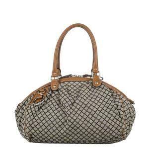 Gucci Beige/Brown GG Canvas Sukey Satchel Bag