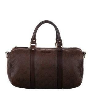 Gucci Brown/Dark Brown Guccissima Leather Joy Duffel Bag