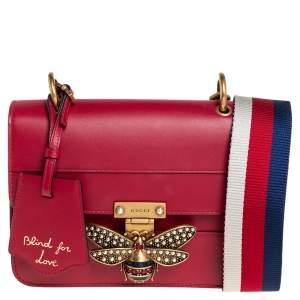 Gucci Red Leather Queen Margaret Shoulder Bag