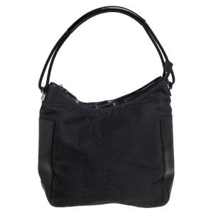 Gucci Black Canvas and Leather Hobo