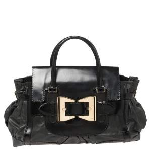Gucci Black Leather Large Dialux Queen Tote