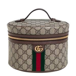Gucci Beige/Brown GG Coated Canvas Ophidia Cosmetic Case