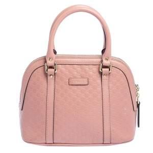 Gucci Pink Microguccissima Leather Mini Dome Bag