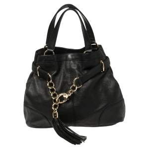 Gucci Black Soft Leather Sienna Tote