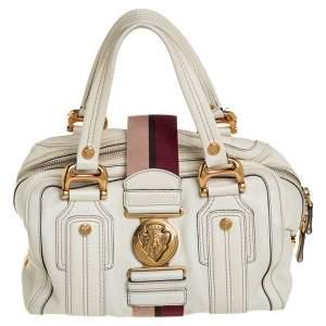Gucci Off White Leather Aviatrix Boston Bag