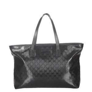 Gucci Black Plastic PVC Tote Bag