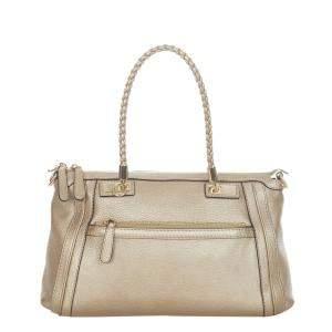 Gucci Gold Bella Leather Satchel Bag