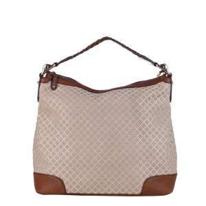 Gucci Brown/Beige Diamante Canvas Eva Canvas Hobo Bag
