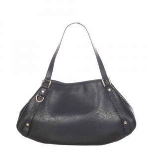 Gucci Black Leather Pelham Shoulder Bag