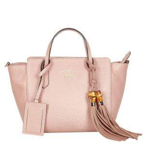Gucci Pink Swing Leather Satchel Bag