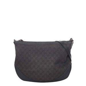 Gucci Brown Canvas Fabric Shoulder Bag