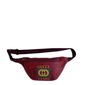 Gucci Red Leather Coco Capitan Belt Bag